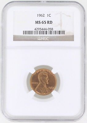 1962 Lincoln Memorial Cent 1C NGC MS65 RD Red