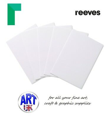 Reeves Artists ACRYLIC PAINTING BOARDS pack of 5 oil colour surface ground
