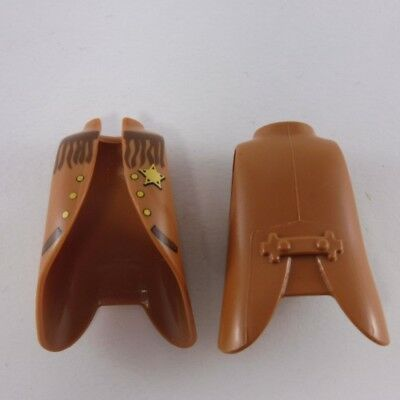24457 Playmobil Lot de 2 Manteaux Cowboy Marron avec Franges 9ed168aaf2e
