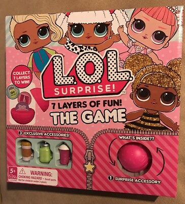 Lol Surprise! 7 Layers Of Fun! Board Game HTF