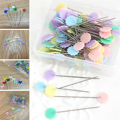 50X Patchwork Pins Flower Button Head Pins DIY Quilting Tool Sewing Accessories