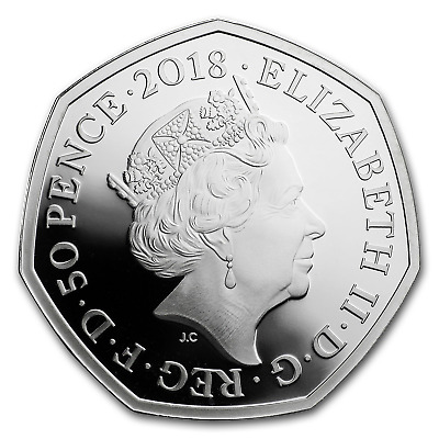 2018 Great Britain Silver 50p Beatrix Potter Proof (Peter Rabbit) - SKU#162492