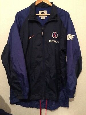 Vintage 1990's  Paris Saint Germain Nike Psg Rare Players Rain Coat Jacket