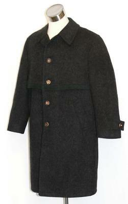 BOILED WOOL Over COAT Men AUSTRIA Hunting Shooting BLACK Winter WARM Trench XL