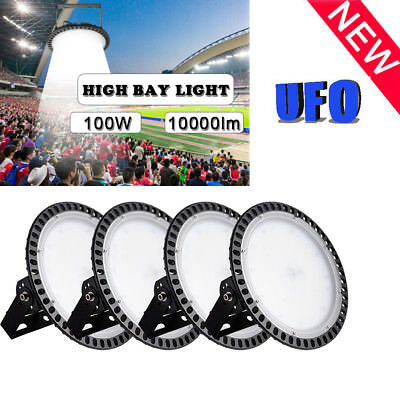 4 x100W UFO LED High Bay Light Warehouse Industrial Factory Shop Lamp Commercial