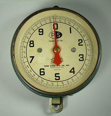 Vintage Penn Scale Mfg.Hanging Produce Scale 20 lb Capacity Series 820