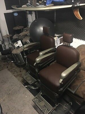 Two Antique Barber chairs