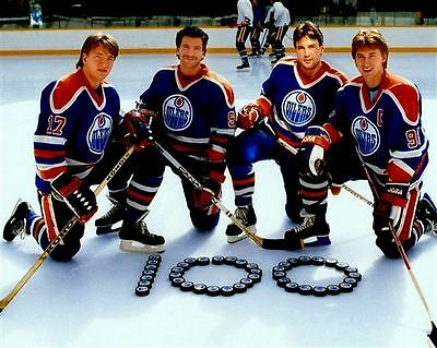 Wayne Gretzky, Jari Kurri, Glen Anderson, Paul Coffey 8x10 Photo