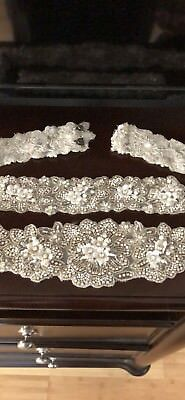 Hand Beaded Bridal/Wedding Dress belt/sash and bracelet