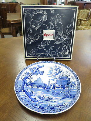 """Spode """"Rome"""" Blue and White Plate With Box."""