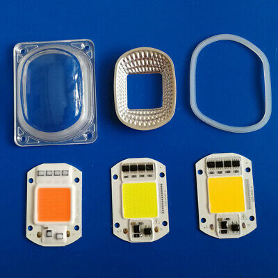 50W 30W 20W 110V/220V LED COB Grow White Chip+Lens Reflector F LED Flood Lights