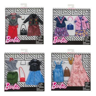 Barbie Fashion 4 Pack Casual - Mix Match Dress & Jeans ~BRAND NEW~