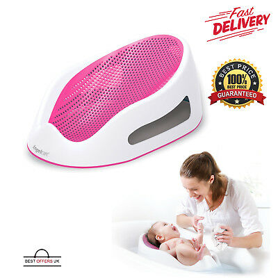 Angelcare Soft Touch Bath Support Pink Baby Safety Bathing Seat Shower Portable