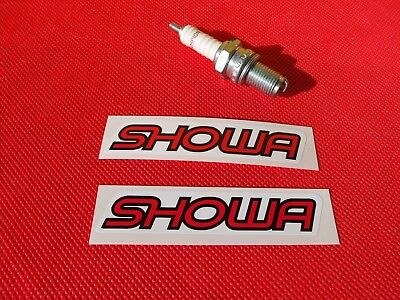 Pair of SHOWA fairing stickers
