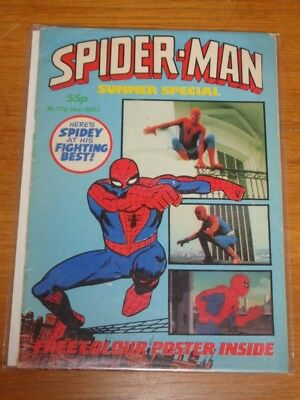 Spiderman British Weekly Summer Special 1982 Marvel Rare