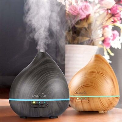 EaseHold Aromatherapy Humidifier Ultrasonic Essential Oil Diffuser Cool Mist LED