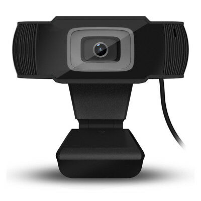 Black 720P HD 12MP Auto USB2.0 Webcam Camera w/ MIC for Skype PC Android TV 2018