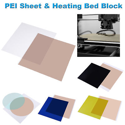 300*300*1.0mm 3D Printing PEI Sheet w/ 468MP Adhesive Tape Heating Bed Block Lot