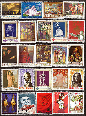 ROMANIA 24 stamps great formats : portraits,nudes,various 82m136a