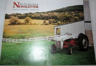 Ford Tractor Newsletter 9N-2N-8N-NAA Autumn 1998 My Father's Garage