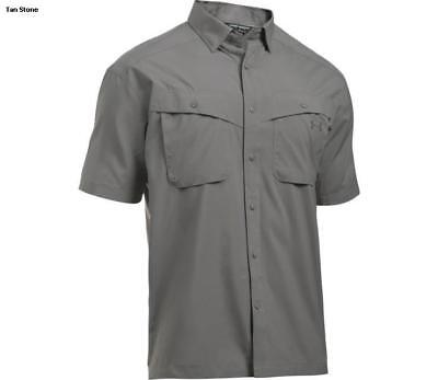 Under Armour Tide Chaser Short Sleeve Fishing Shirt 1290743-942 Graphite