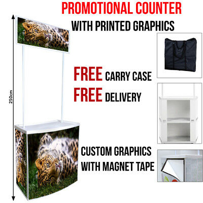 Promotional Counter Display Stand with Printed Graphics -Popup/Exhibition Stand