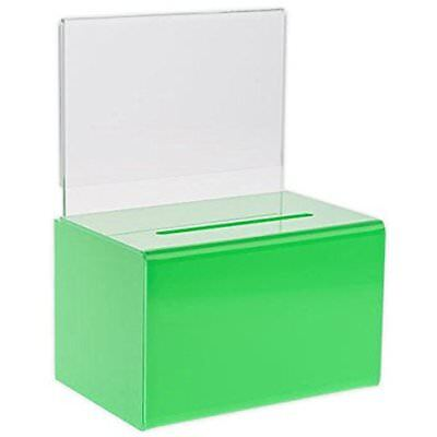 Source Mail & Suggestion Boxes One Small 5-Inch Wide Deluxe Oblong Donation With