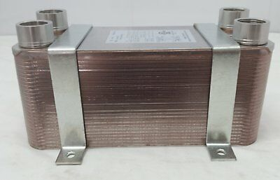 """Water to Water Brazed 100 Plate 11/4"""" FPT PORTS w/INSTALLATION Bracket"""