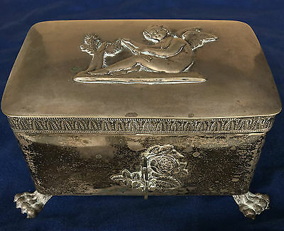 Antique 1800s Sugar Casket Box Germany East Prussia Koenigsberg DBK ( Silver? )