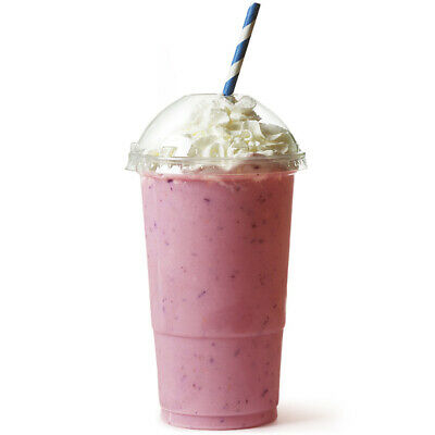 Disposable Smoothie Cups with Lids LCE at 20oz x 500 | Milkshake Cups, Slush Cup