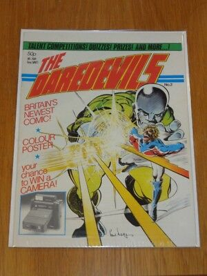 Daredevils #2 Marvel British Monthly 1983 Captain Britain