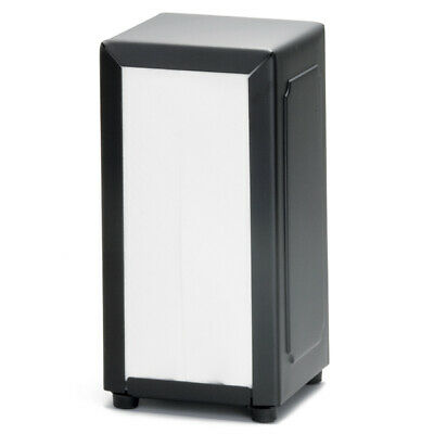 Black Stainless Steel Napkin Dispenser - Tablecraft Serviette Dispenser