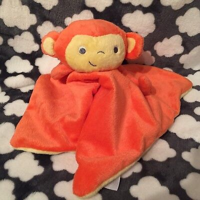 New The Gro Company Orange Mikey Monkey Chimp Baby Comforter Blanket Soft Toy