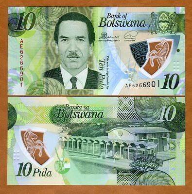 Botswana, 10 Pula, 2018, P-New, First Polymer, UNC