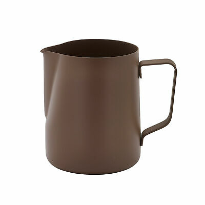 Non-Stick Frothing Jug Brown 600ml - Milk Frother Jug for Barista Coffee Service