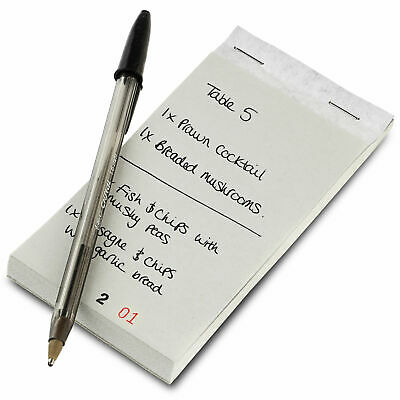 Restaurant Order Pad with Duplicate Sheet - Set of 10 - Restaurant Ordering Pads