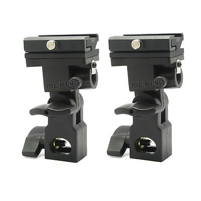 2X Flash Hot Shoe Hotshoe Umbrella Mount Holder Swivel For Light Stand Bracket B