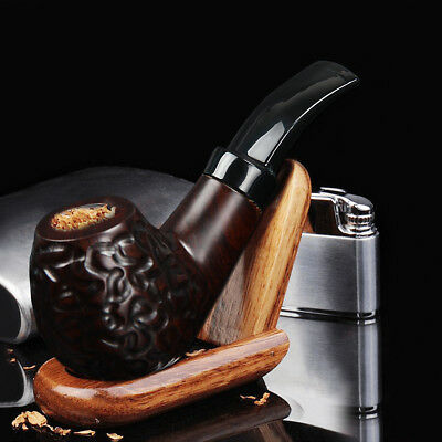 Collectible Durable Wooden Wood Smoking Pipe Tobacco Cigarettes Cigar Pipes Hot