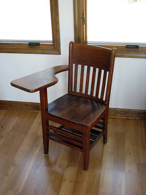 Vintage Writing Desk Chair ... Full-Size ... Solid, Sturdy Wood