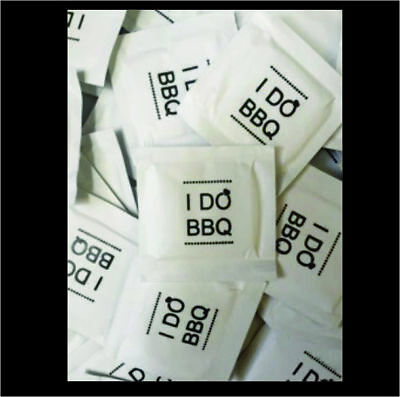 I DO BBQ DIAMOND Wet Wipe Packets - Pack of 100 Moist Towelettes - BLACK