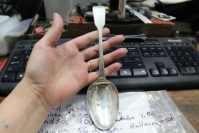 England George IV - Sterling Serving Spoon - London 1824 Maker I.B. - 56.24 gram