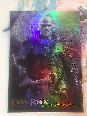 2003 Lord of the Rings RoTK Foil Trading Card Single Orc 7 of 10