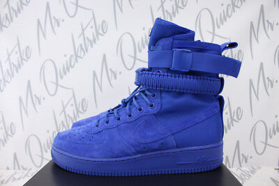 best service 05584 71185 NIKE SF AF-1 High Air Force 1 Sz 9.5 Af1 Game Royal Blue Suede Boot 864024  401