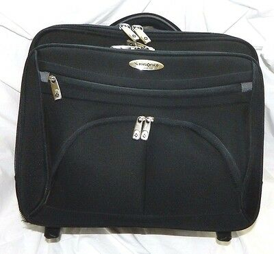 Samsonite 17 Rolling Laptop Case Wheeled Mobile Office Padded Briefcase Travel