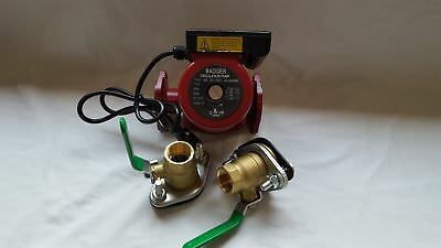 """3 speed Circulating Pump 34 GPM with Cord with (2) 1 1/4"""" Flanged Ball Valves"""