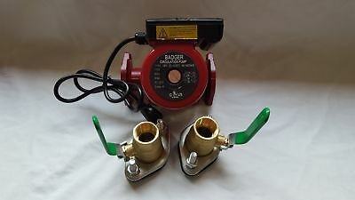 """3 speed Circulating Pump with Cord 34 GPM with (2) 3/4"""" Flanged Ball Valves"""
