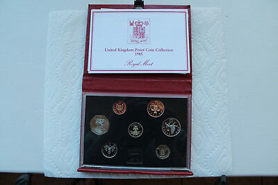 Great Britain (UK) Proof Set from 1985 (7 coins)