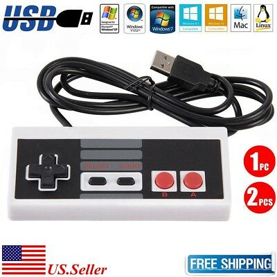 NEW Classic Wired USB Controller Nintendo NES Game Gamepad for PC Windows & Mac