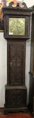 1780 Brass Face 8 x Day Oak Grandfather Clock by William Amery  in Blythe Marsh