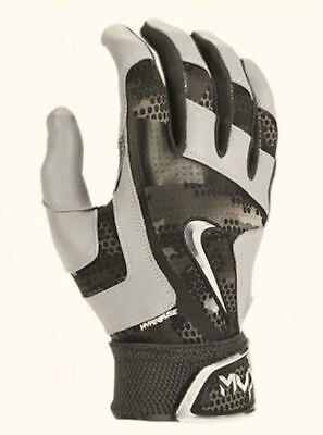 NIKE MVP Elite Pro 2.0 Grey Bone Black Baseball Batting Gloves NEW Mens Sz M L